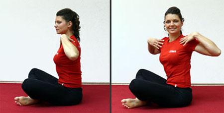 Pilates vaje - Rotacija  trupa