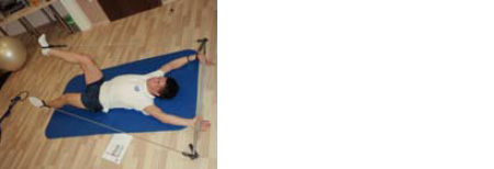 čenje kontrole gibanja v spodnjih okončinah asimetrično v horizontalnem položaju.